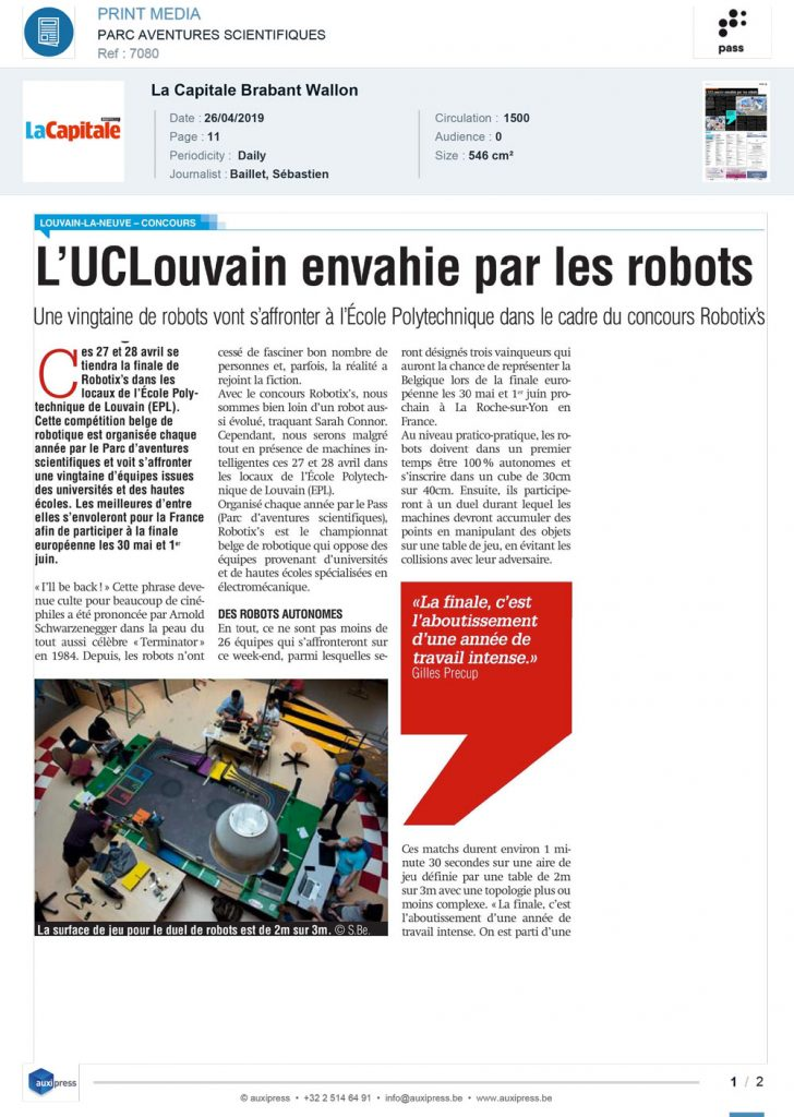 La Capitale_Robotixs