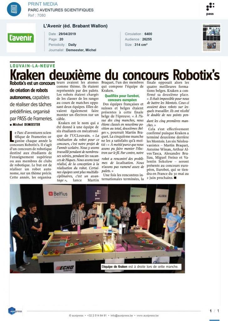 L'avenir Robotix's