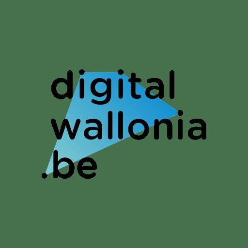 Logo de Digital Wallonia, plateforme en charge du suivi des projets numériques en Wallonie