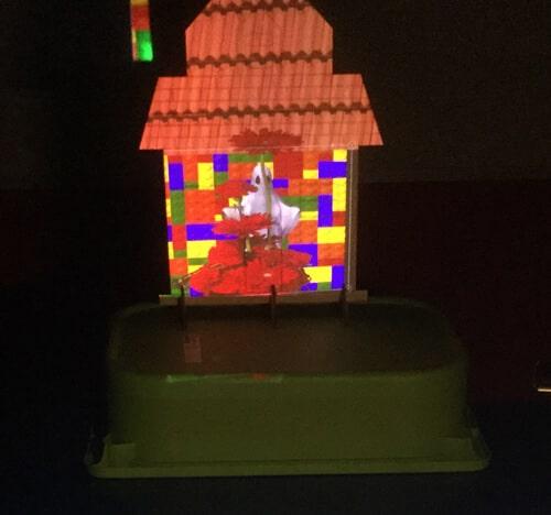 Maison hantée grâce au videomapping