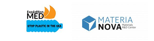 Partenaires océans plastifiés : logos de Materia Nova et Expéditions Med.