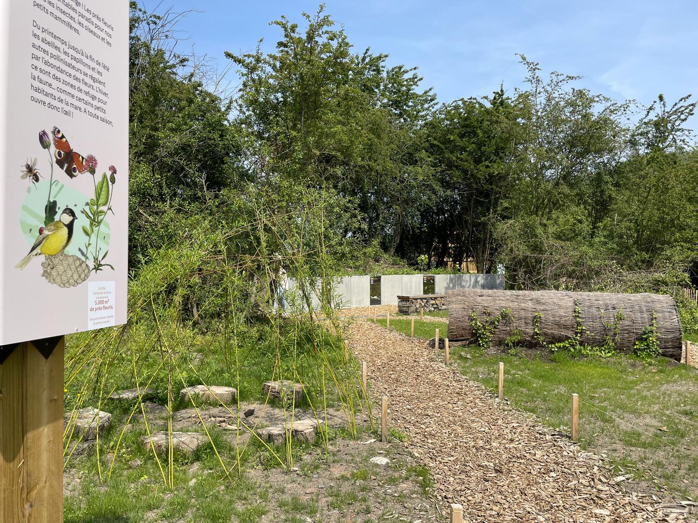 Jardin biodiversité - vue des sentiers