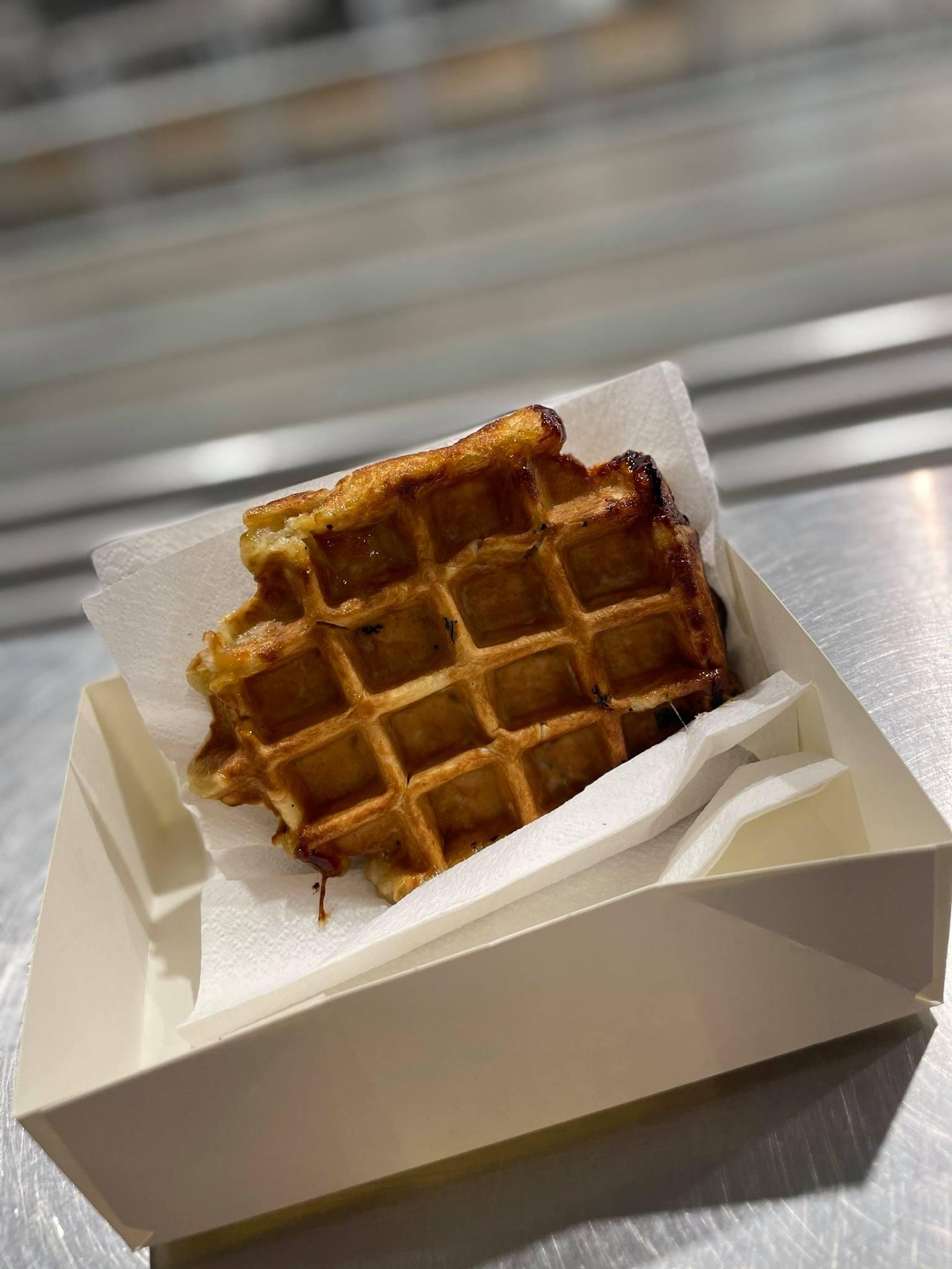 Gaufre de Liège : dessert du Café 21