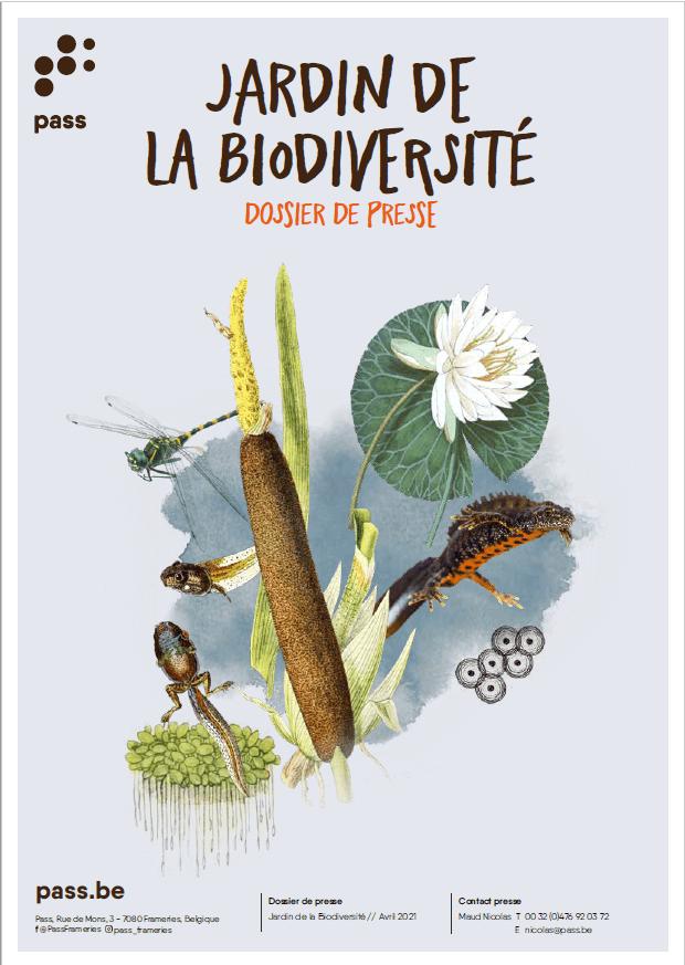 Couverture du dossier de presse du Jardin de la biodiversité