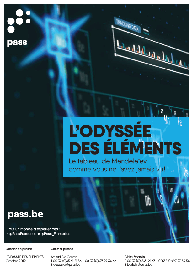 Couverture du dossier de presse de l'exposition l'Odyssée des éléments