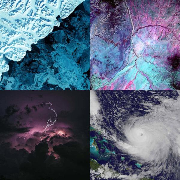 photo neige, éclair, ouragan