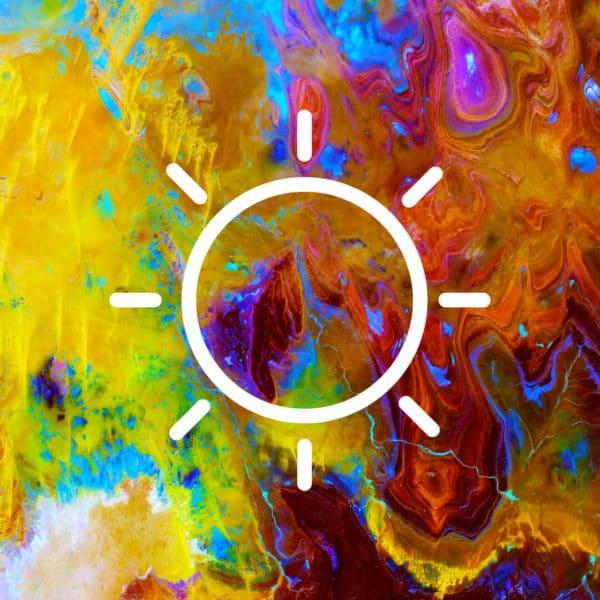 Image satellite de soleil